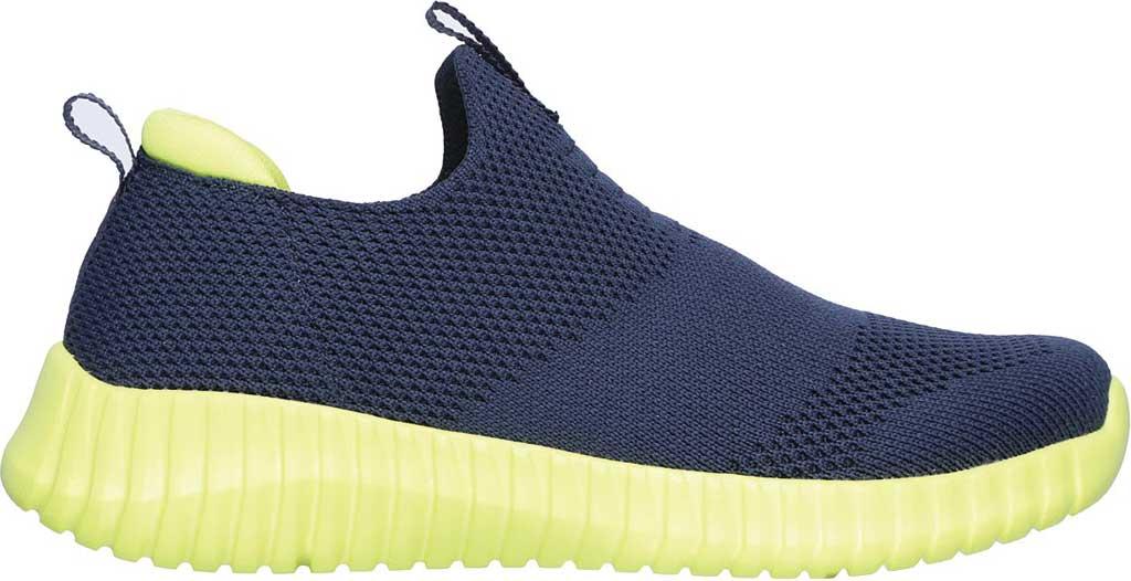 Boys' Skechers Elite Flex Wasick Slip-On Sneaker, Navy/Lime, large, image 2