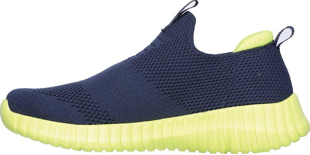 Boys' Skechers Elite Flex Wasick Slip-On Sneaker, Navy/Lime, large, image 3