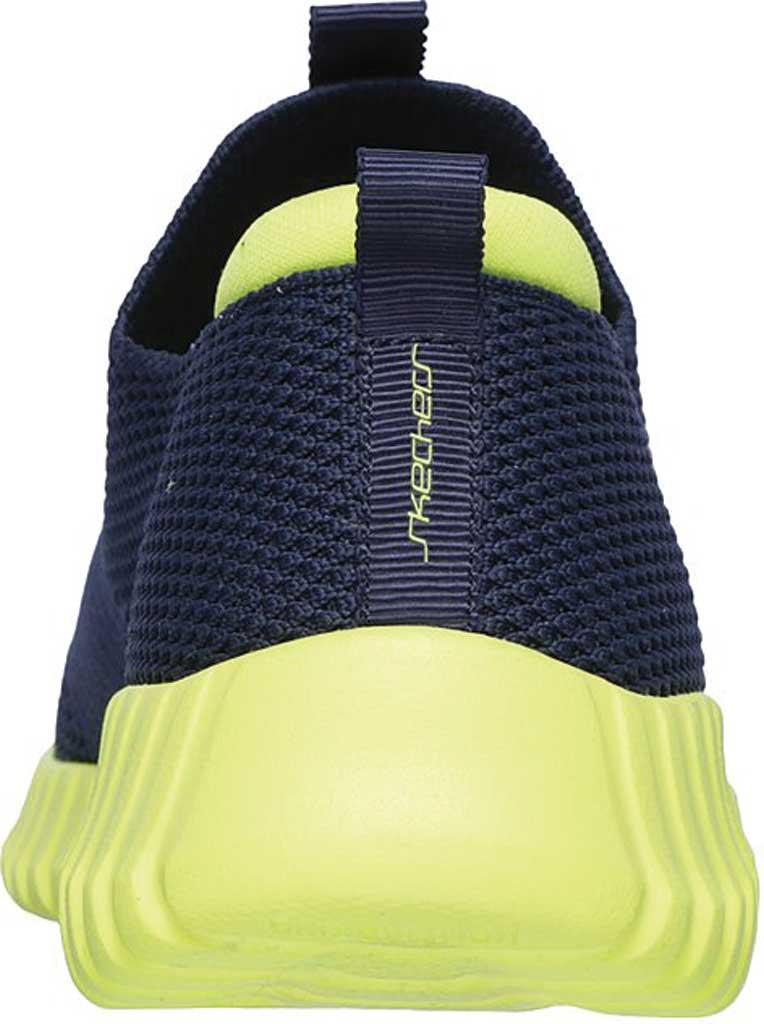 Boys' Skechers Elite Flex Wasick Slip-On Sneaker, Navy/Lime, large, image 4