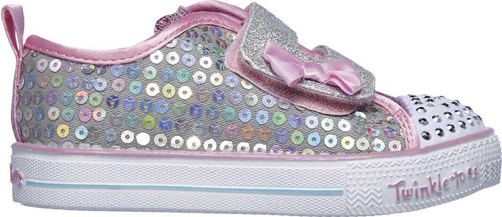 Infant Girls' Skechers Twinkle Toes Shuffle Lite Mini Mermaid Sneaker, Silver/Multi, large, image 2