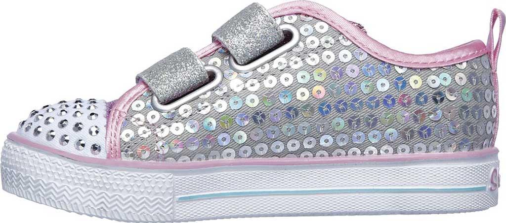 Infant Girls' Skechers Twinkle Toes Shuffle Lite Mini Mermaid Sneaker, Silver/Multi, large, image 3