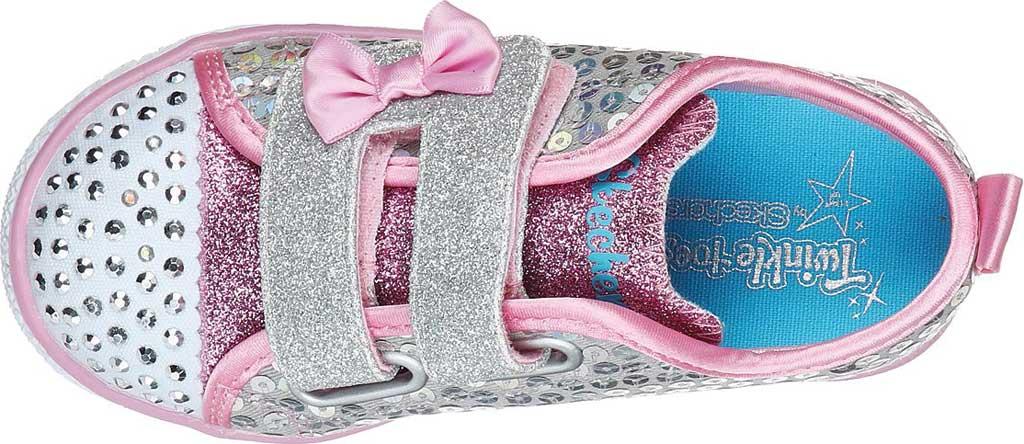 Infant Girls' Skechers Twinkle Toes Shuffle Lite Mini Mermaid Sneaker, Silver/Multi, large, image 4