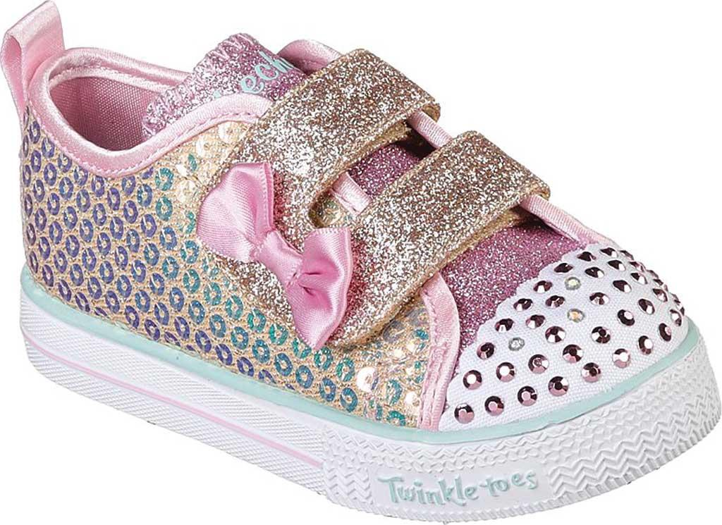 Infant Girls' Skechers Twinkle Toes Shuffle Lite Mini Mermaid Sneaker, Gold, large, image 1