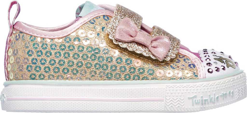 Infant Girls' Skechers Twinkle Toes Shuffle Lite Mini Mermaid Sneaker, Gold, large, image 2