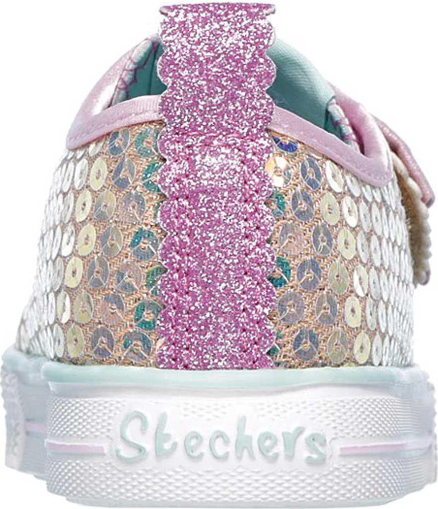 Infant Girls' Skechers Twinkle Toes Shuffle Lite Mini Mermaid Sneaker, Gold, large, image 4