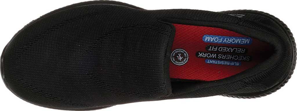Women's Skechers Work Relaxed Fit Squad Slip Resistant Miskin, Black, large, image 4