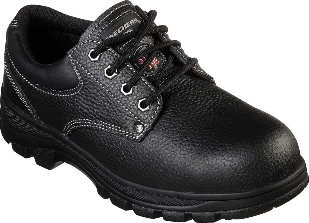 Men's Skechers Work Workshire Tydfil Steel Toe Shoe, Black, large, image 1