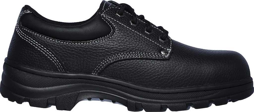 Men's Skechers Work Workshire Tydfil Steel Toe Shoe, Black, large, image 2