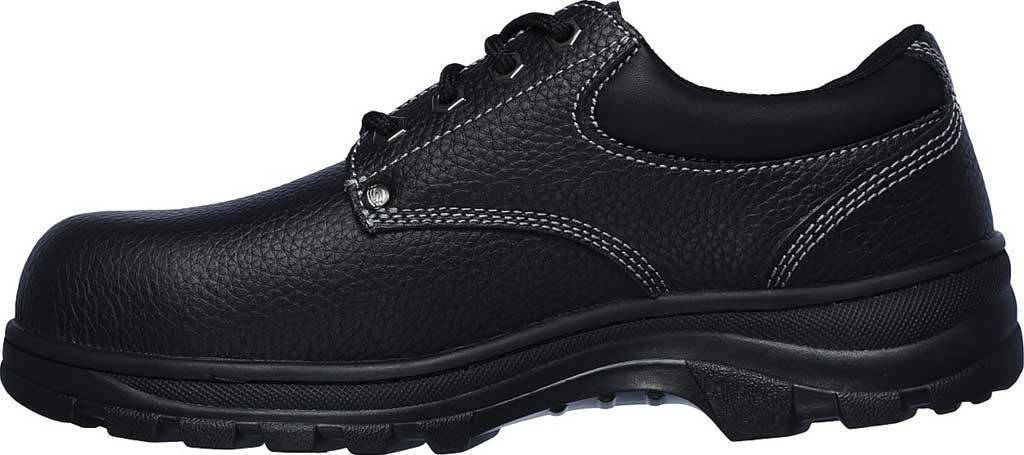 Men's Skechers Work Workshire Tydfil Steel Toe Shoe, Black, large, image 3