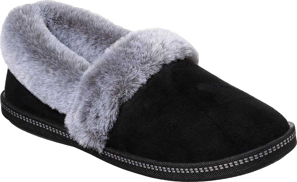 Women's Skechers Cozy Campfire Team Toasty Slipper, Black, large, image 1
