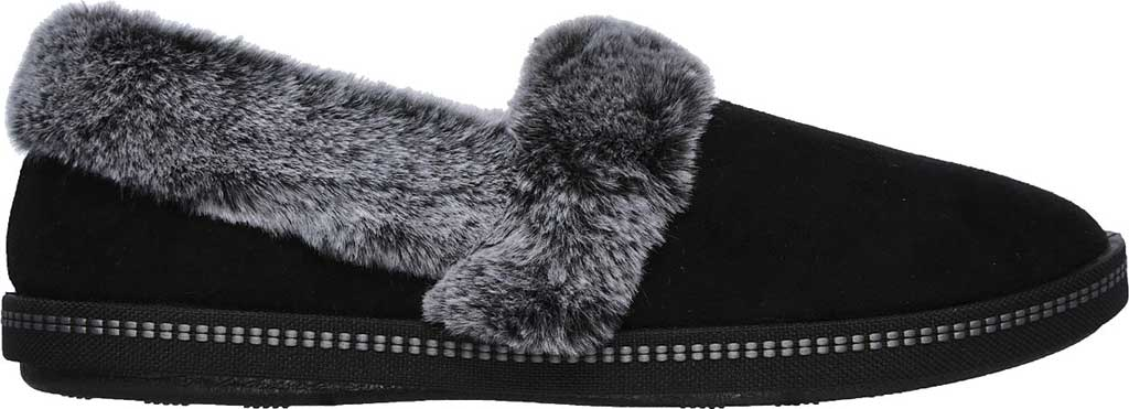 Women's Skechers Cozy Campfire Team Toasty Slipper, Black, large, image 2