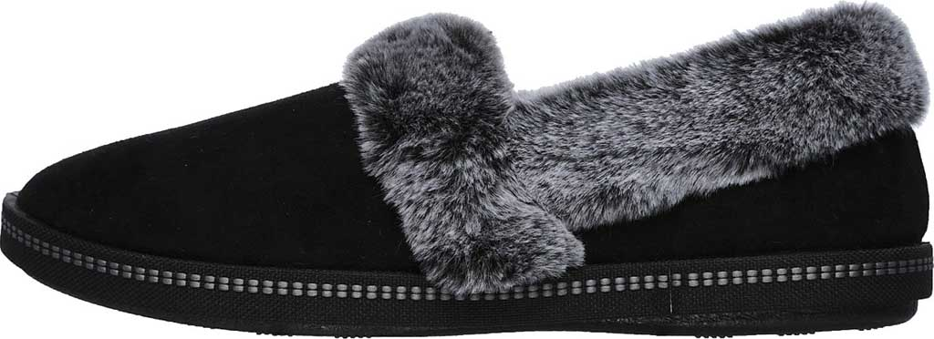 Women's Skechers Cozy Campfire Team Toasty Slipper, Black, large, image 3