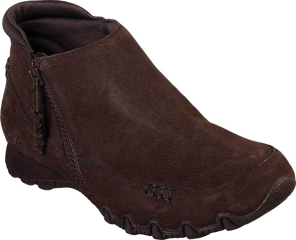 Women's Skechers Relaxed Fit Bikers Zippiest Ankle Boot, , large, image 1
