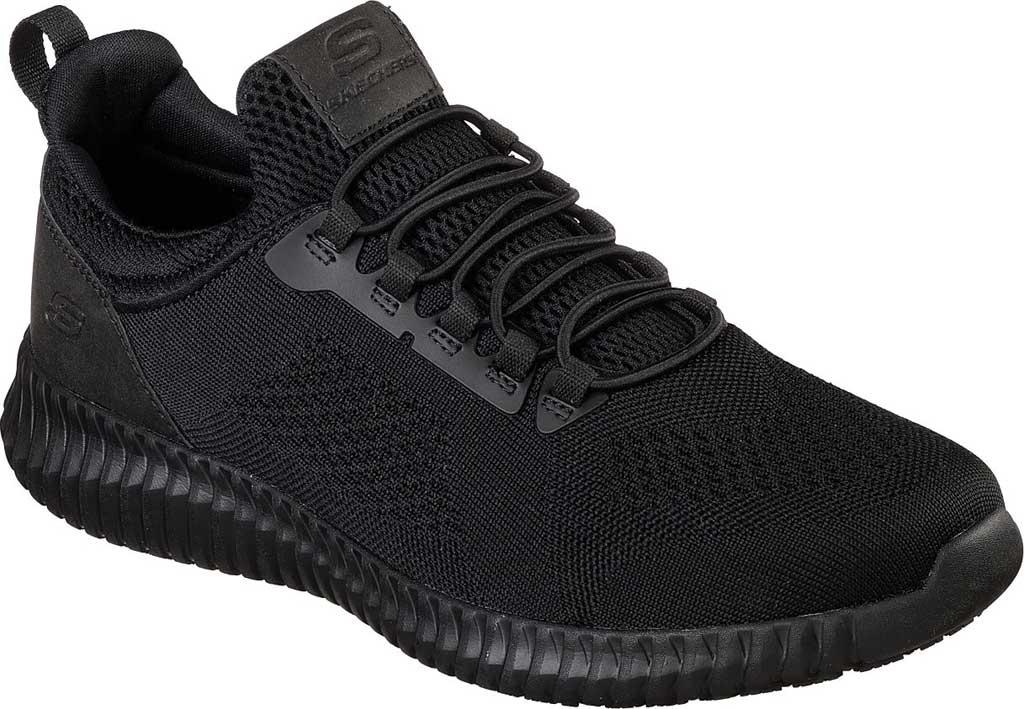Men's Skechers Work Relaxed Fit Cessnock Slip Resistant Shoe, Black, large, image 1