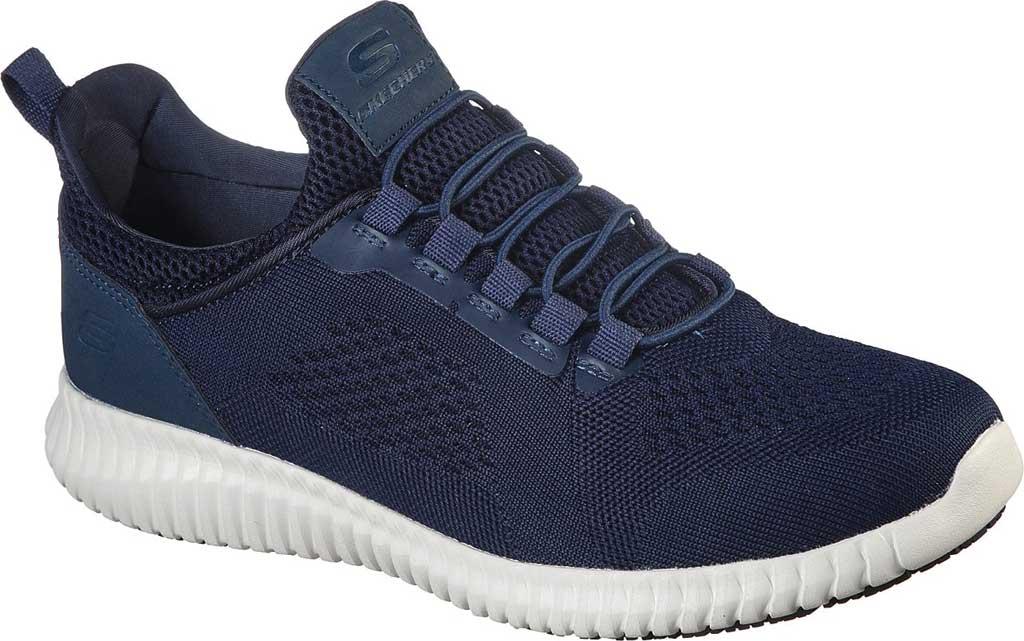 Men's Skechers Work Relaxed Fit Cessnock Slip Resistant Shoe, Navy, large, image 1