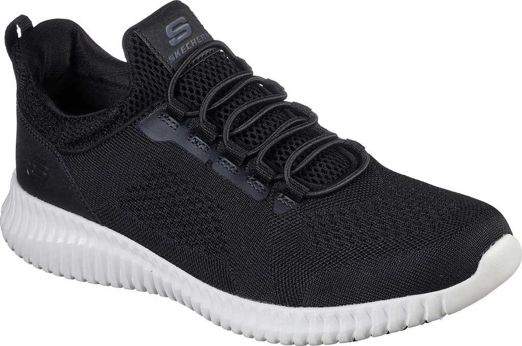 Men's Skechers Work Relaxed Fit Cessnock Slip Resistant Shoe, Black/White, large, image 1