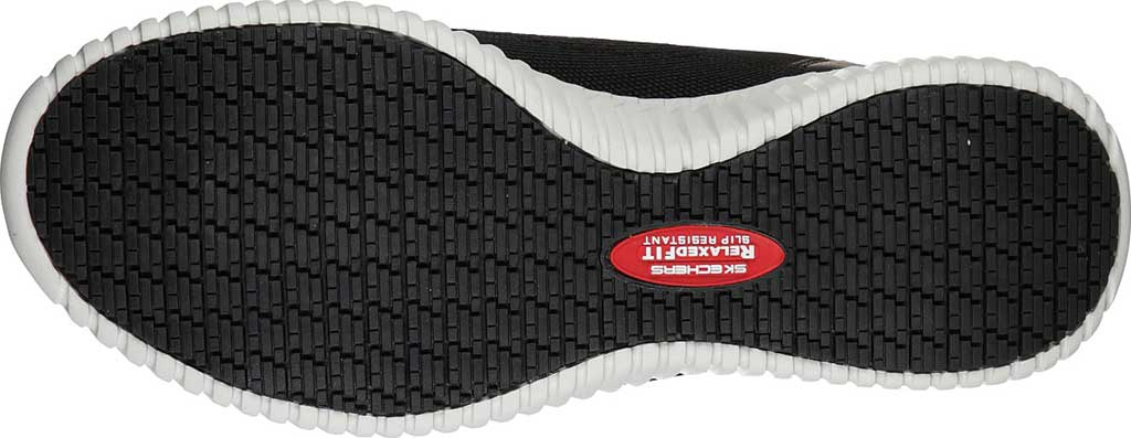 Men's Skechers Work Relaxed Fit Cessnock Slip Resistant Shoe, Black/White, large, image 5