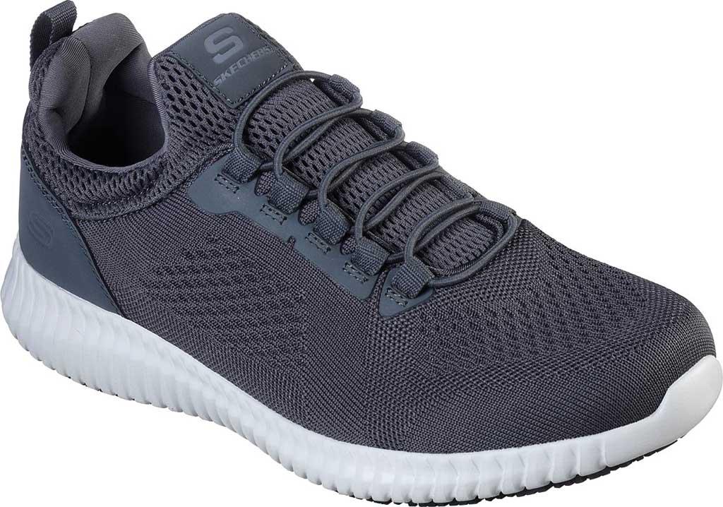 Men's Skechers Work Relaxed Fit Cessnock Slip Resistant Shoe, Charcoal, large, image 1