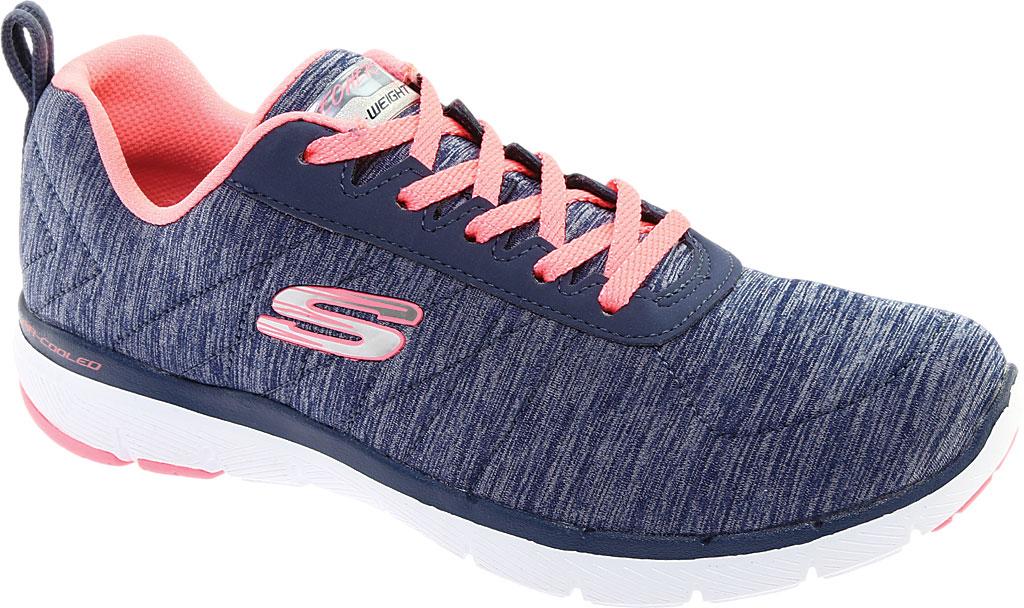 Women's Skechers Flex Appeal 3.0 Insiders Sneaker, Navy/Coral, large, image 1