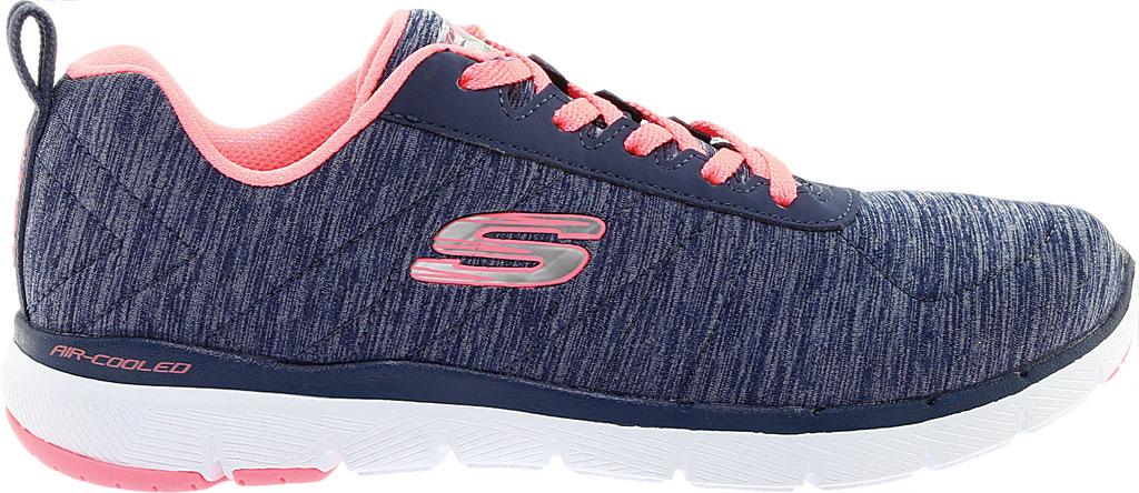 Women's Skechers Flex Appeal 3.0 Insiders Sneaker, Navy/Coral, large, image 2