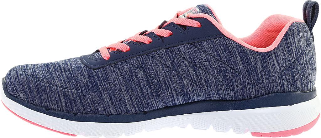 Women's Skechers Flex Appeal 3.0 Insiders Sneaker, Navy/Coral, large, image 3