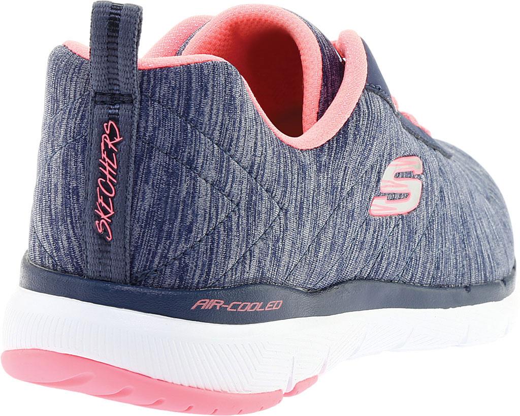 Women's Skechers Flex Appeal 3.0 Insiders Sneaker, Navy/Coral, large, image 4