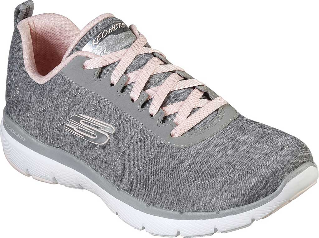Women's Skechers Flex Appeal 3.0 Insiders Sneaker, Gray/Light Pink, large, image 1