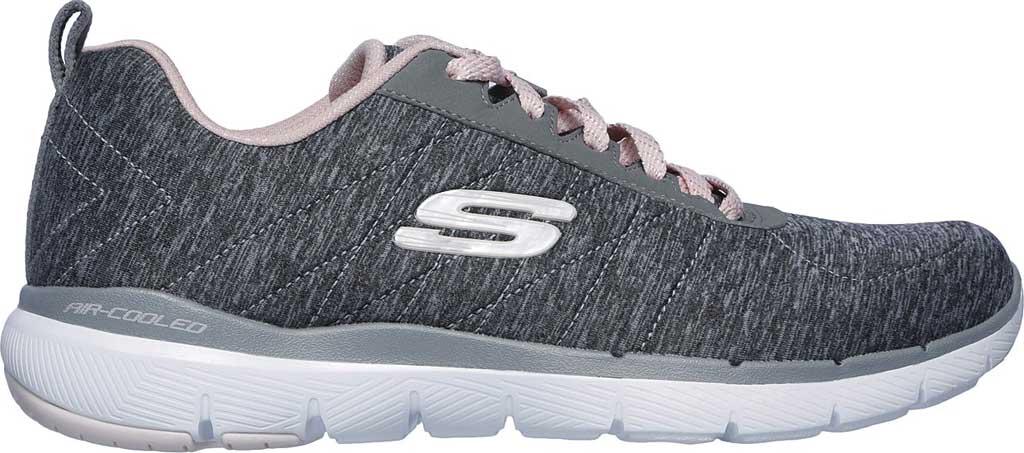 Women's Skechers Flex Appeal 3.0 Insiders Sneaker, Gray/Light Pink, large, image 2