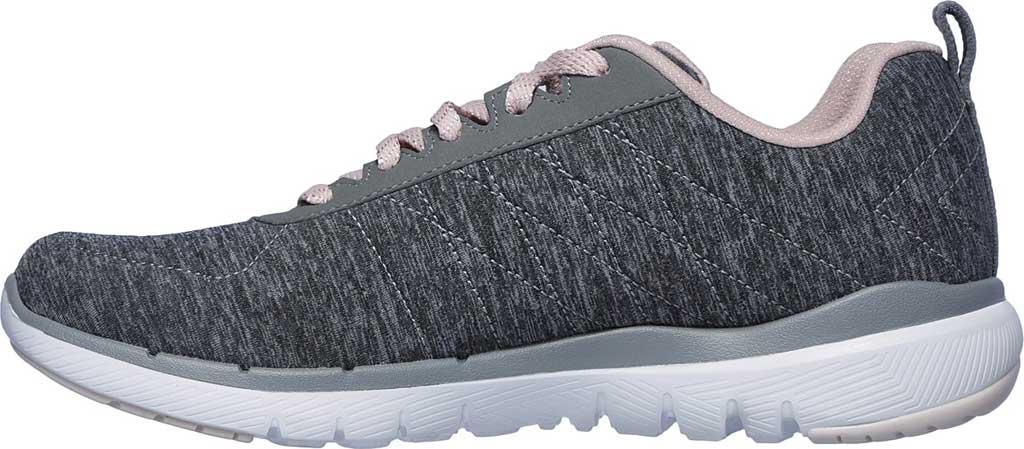Women's Skechers Flex Appeal 3.0 Insiders Sneaker, Gray/Light Pink, large, image 3