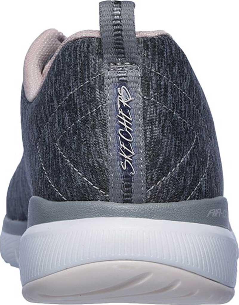 Women's Skechers Flex Appeal 3.0 Insiders Sneaker, Gray/Light Pink, large, image 4