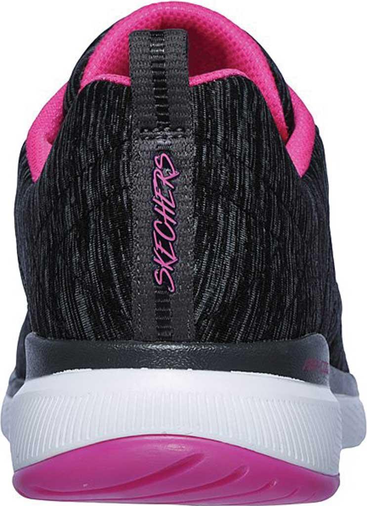 Women's Skechers Flex Appeal 3.0 Insiders Sneaker, Black/Hot Pink, large, image 4