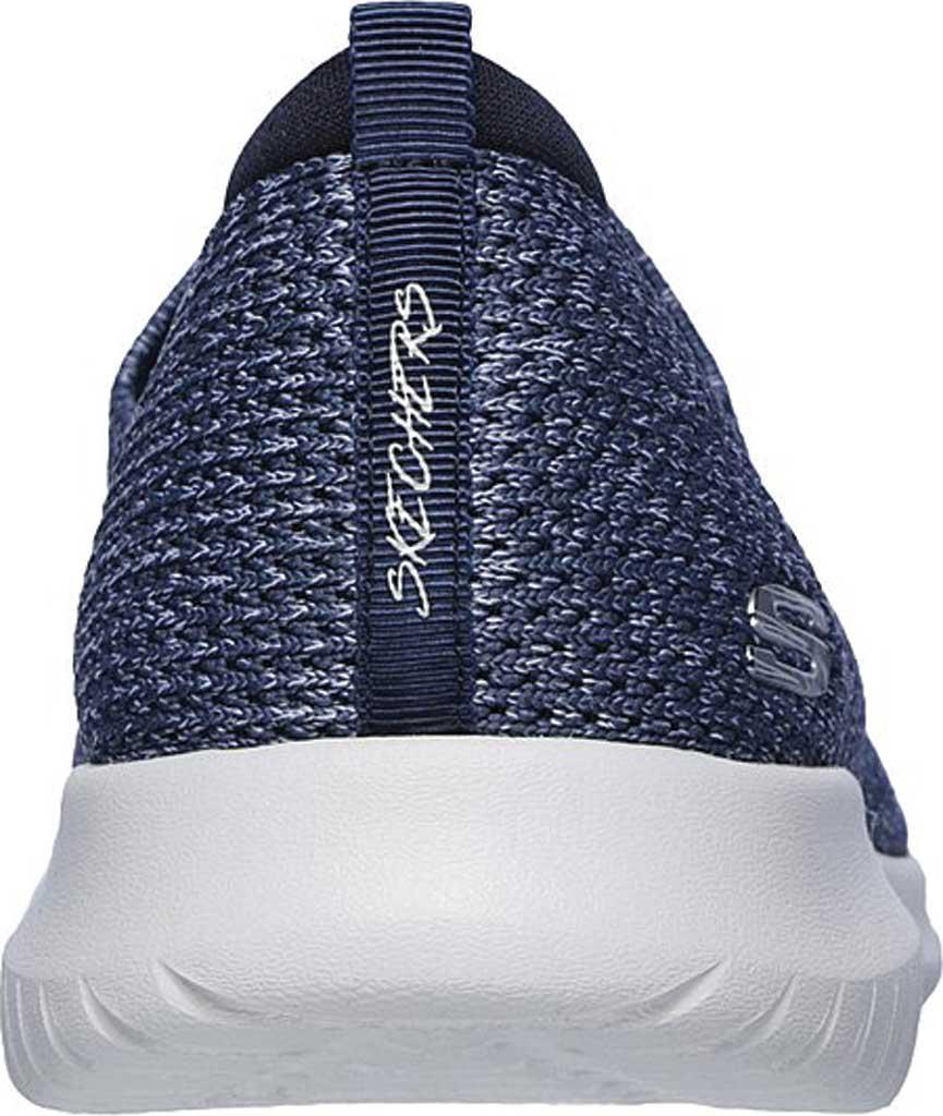 Women's Skechers Ultra Flex Harmonious Slip On Sneaker, Navy, large, image 4