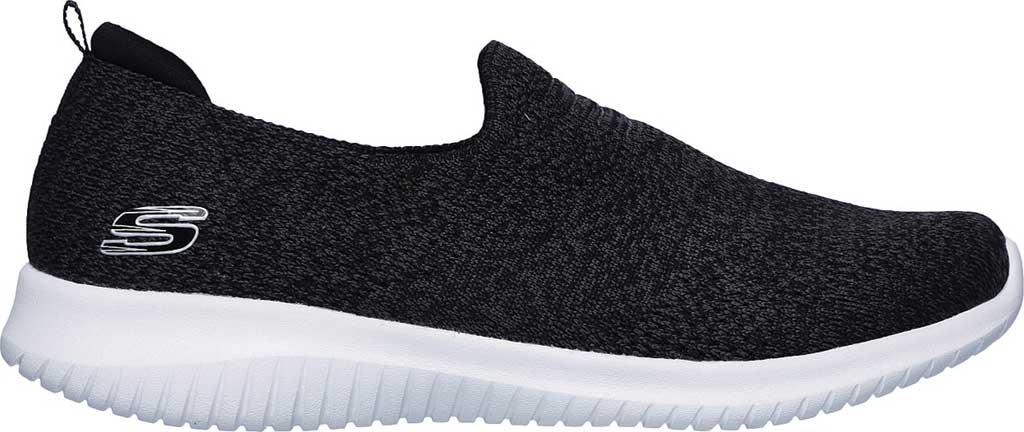 Women's Skechers Ultra Flex Harmonious Slip On Sneaker, Black/White, large, image 2