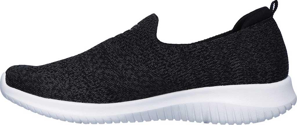 Women's Skechers Ultra Flex Harmonious Slip On Sneaker, Black/White, large, image 3