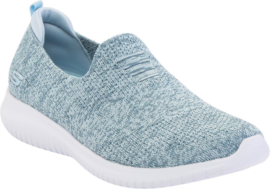 Women's Skechers Ultra Flex Harmonious Slip On Sneaker, Blue, large, image 1