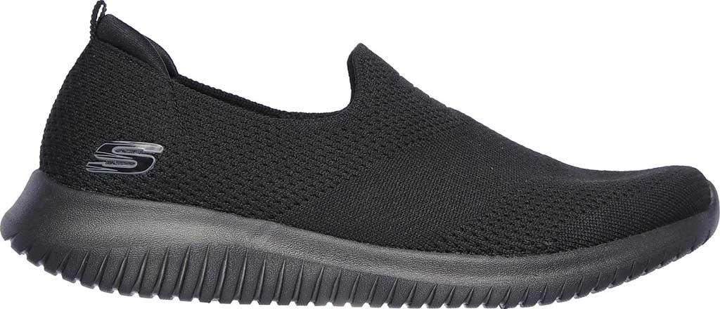 Women's Skechers Ultra Flex Harmonious Slip On Sneaker, Solid Black/Black, large, image 2