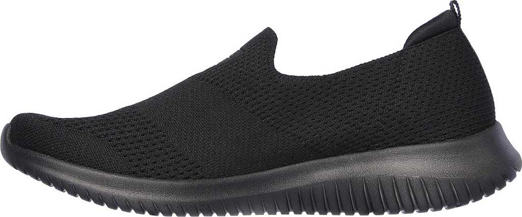 Women's Skechers Ultra Flex Harmonious Slip On Sneaker, Solid Black/Black, large, image 3