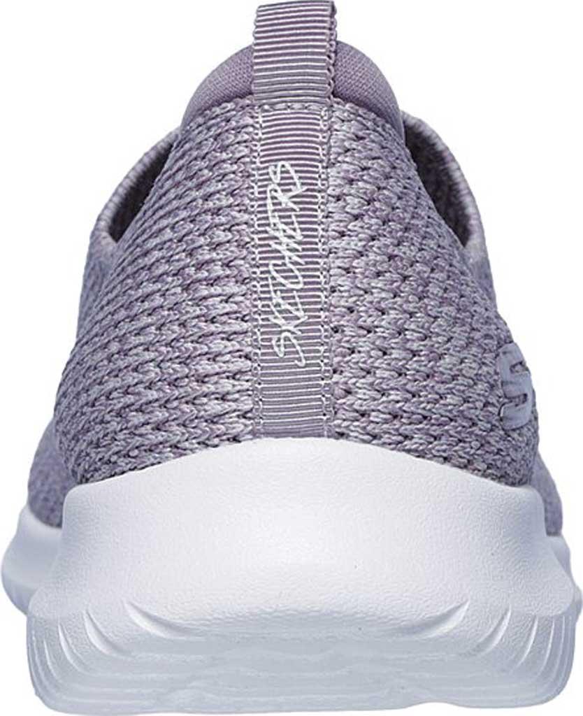 Women's Skechers Ultra Flex Harmonious Slip On Sneaker, Lavender, large, image 4