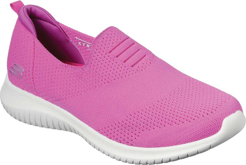 Women's Skechers Ultra Flex Harmonious Slip On Sneaker, Fuchsia, large, image 1