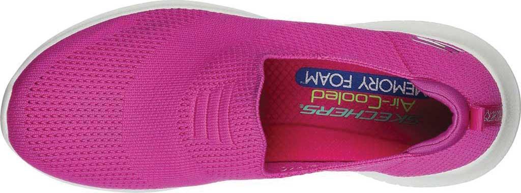 Women's Skechers Ultra Flex Harmonious Slip On Sneaker, Fuchsia, large, image 4