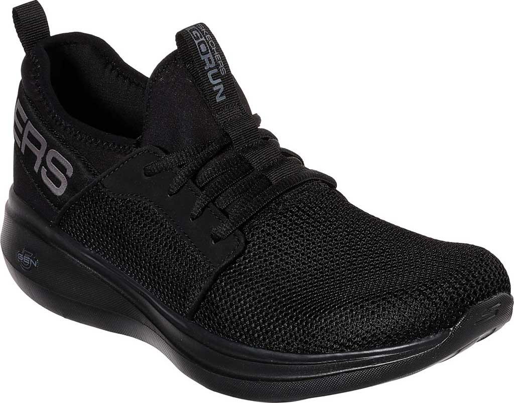 Men's Skechers GOrun Fast Valor Running Shoe, Black/Black, large, image 1