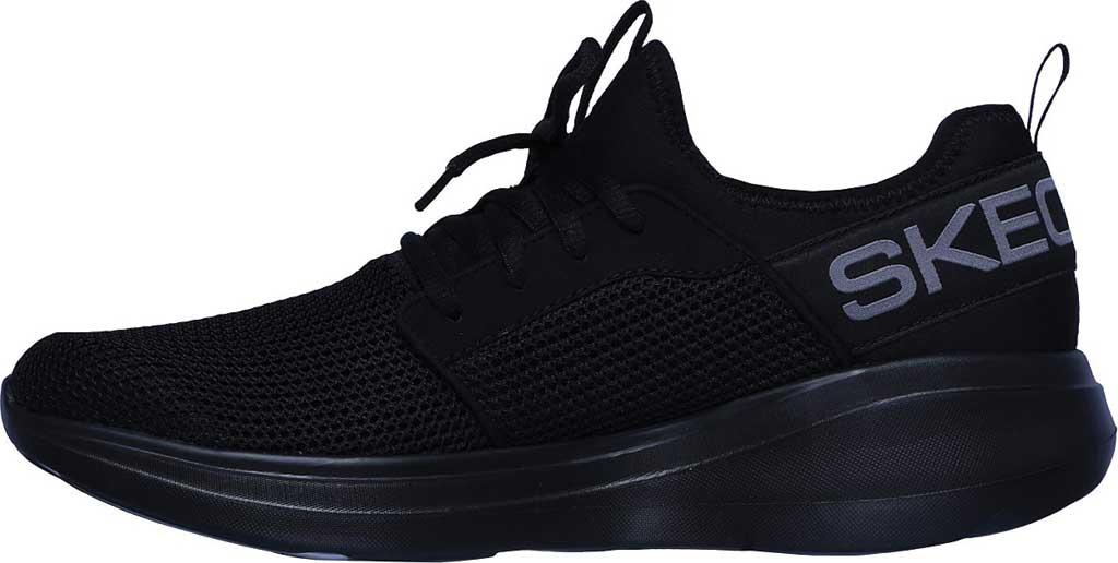 Men's Skechers GOrun Fast Valor Running Shoe, Black/Black, large, image 3