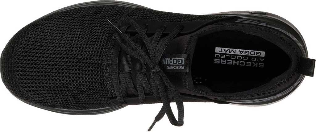 Men's Skechers GOrun Fast Valor Running Shoe, Black/Black, large, image 5