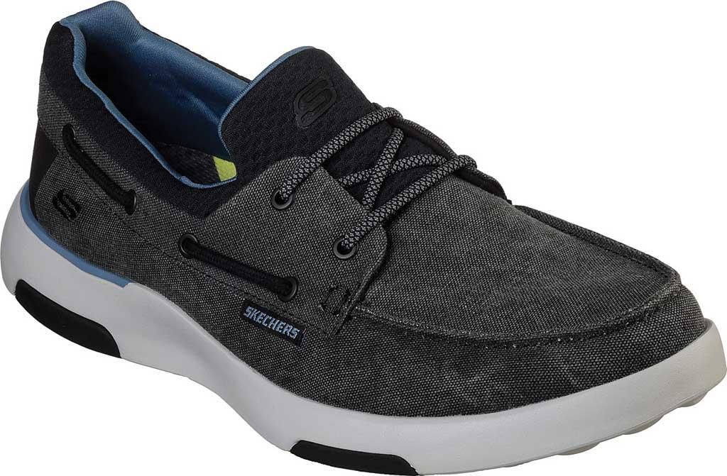 Men's Skechers Bellinger Garmo Boat Shoe, Black, large, image 1