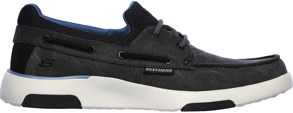 Men's Skechers Bellinger Garmo Boat Shoe, Black, large, image 2