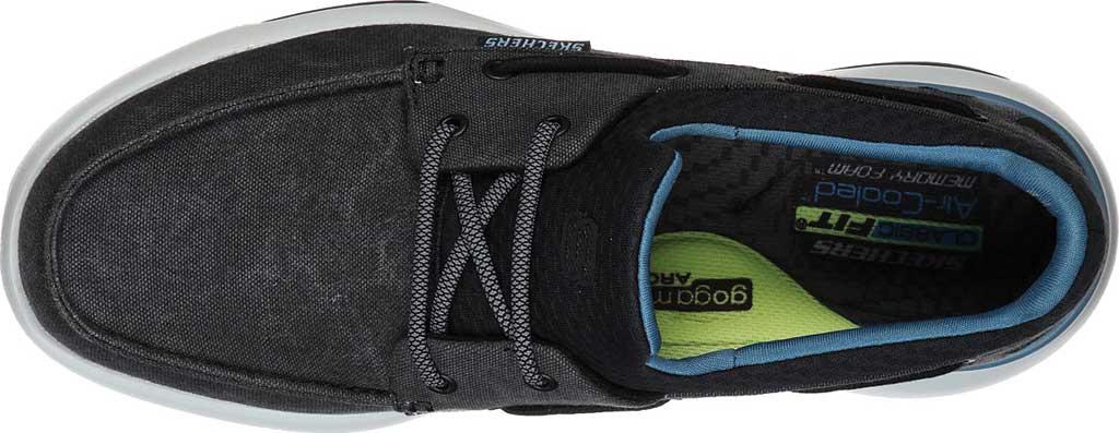 Men's Skechers Bellinger Garmo Boat Shoe, Black, large, image 4