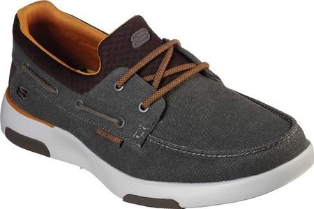Men's Skechers Bellinger Garmo Boat Shoe, Brown, large, image 1