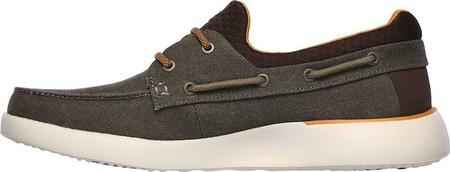 Men's Skechers Bellinger Garmo Boat Shoe, Brown, large, image 3