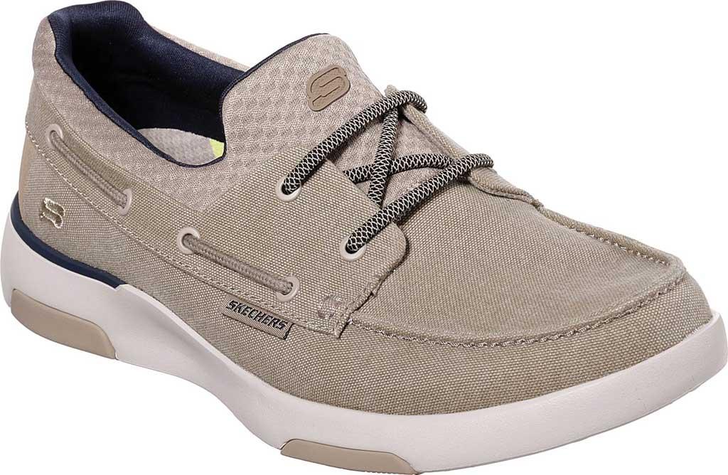 Men's Skechers Bellinger Garmo Boat Shoe, Taupe, large, image 1