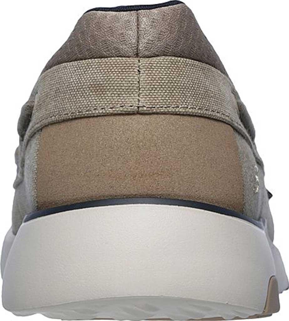 Men's Skechers Bellinger Garmo Boat Shoe, Taupe, large, image 4